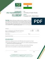 Kalam Fellowship Form 201819