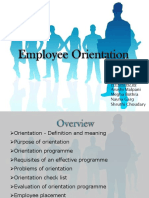Policy and Procedure Example - New Staff Orientation