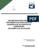 Metodología para el Tratamiento de Sitios de Alta Incidencia de Accidentes en Carreteras - Ejemplo de Aplicación.pdf