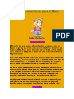 Proyecto de Salud Bucal Para El Nivel Inicial
