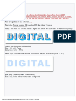 Photoshop Text Effects 3D Digital Text Effect Tutorial