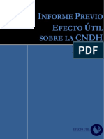 Informe Previo Efecto Útil CNDH, México