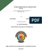 Biosorption of Iron from Pickling Liquor by Agni Pushp-------2010B5A2680P.pdf