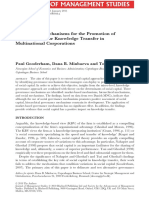 Items-OCKS-Governance Mechanisms for the Promotion of Social Capital for Knowledge Transfer in Multinational Corporations