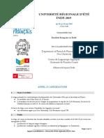Appel à Candidature Univ Dété de LIFI Mai 20191