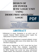 DESIGN OF LOW POWER ARITHMETIC LOGIC UNIT USING DIODE FREE ADIABATIC LOGIC PROJECT PPT.pptx