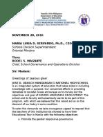 GAD Jose d. Udasco Mangangan I National High School