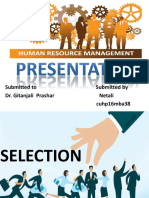 Presentation Selection