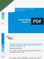 Session 5 (Social Influences)