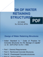 WATER RETAINING STRUCTURE
