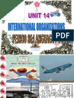 Unit 14 International Organizations Lang