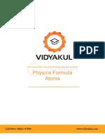 Physics Formula Chapter12 Atoms