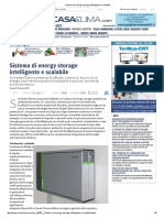 Sistema Di Energy Storage Intelligente e Scalabile