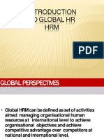 introduction to global HRM