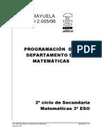 Programacion Didactica Matematicas 3 Eso
