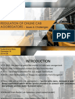 Regulation of Online Cab Aggregators