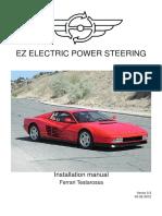 Scheda Montaggio Ferrari Testarossa Inglese