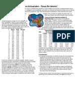 Cálculos Actuariales - Tasas De Interés