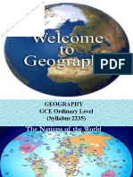 Intro 2235 Core Geography