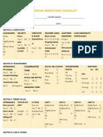 Substation Inspection Checklist