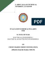 3rd Year Syllabus Electrical Engineering, Electrical & Electronics Engineering