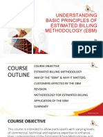 Understanding Basic Principles of Estimated Billing Methodology