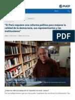Puntoedu - Entrevista a Fernando Tuesta