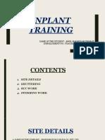 Inplant Training