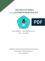 Keselamatan Kerja Laboratorium Hematologi