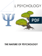 LECTURE 1 the Nature of Psychology