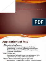 Apllication of Mis in Manufacturing
