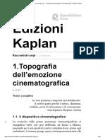Racconti Di Corpi - 1.Topografia Dell'Emozione Cinematografica - Edizioni Kaplan