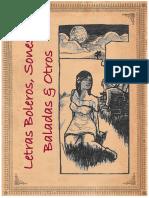 Letras Boleros, Sones, Baladas & Otros
