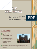 How to Teach Poetry Workshop Final