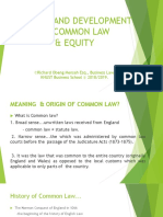 History and Development of Common Law and Equity.ppt