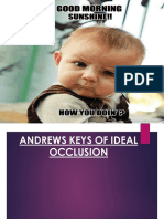 Andrews Keys of Occlusion