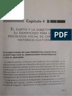 González Rey, F. El sujeto y la subjetividad_ su significado para una psicología social de carácter histórico-cultural