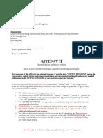 Gordon Brown Affidavit