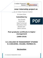Nikhil Summer Internship Index
