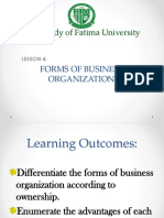 Lesson 4 5forms of Business Organization