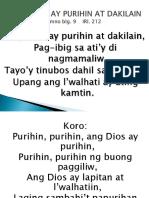 _ang Diyos Ay Purihin at Dakilain