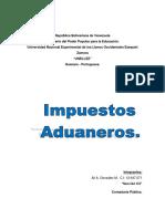 Informe Impuestos Aduaneros
