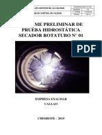 Informe Prueba Hidrostatica - Exalmar Callao