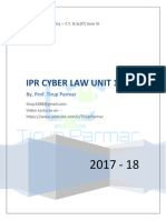 IPR and Cyber Unit 1-6 Notes 2017-18