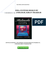 Multimedia Systems Design by Prabhat k Andleigh Kiran Thakrar