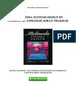 Multimedia Systems Design by Prabhat k Andleigh Kiran Thakrar