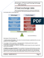 Advantages of Fixed Exchange Rates