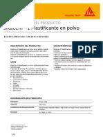 HT - SikaCem-1 Plastificante Polvo PDS2PIM.pdf