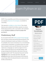 Learn Python in 10 Minutes - Stavros' Stuff