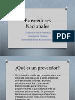 Proveedores Nacionales